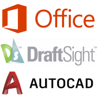 Office, Draftsight and AutoCAD